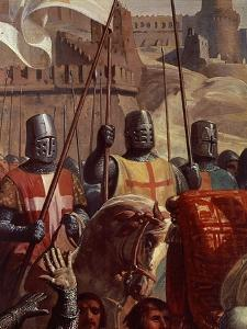 Knights, from Battle of Ascalon, 18 November 1177 by Charles-Philippe Lariviere