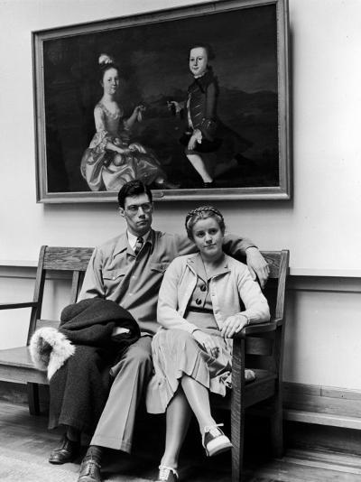 Charles Pope, Track Star and Student Council President Sitting with Katherine Winne-Alfred Eisenstaedt-Photographic Print