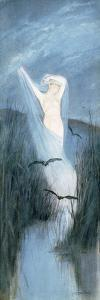 Fen Fairy (W/C) by Charles Prosper Sainton
