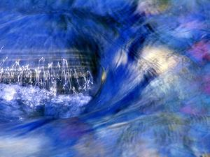 Abstract of Water Flowing Over Rock in Sunlight, Alpharetta, Georgia, USA by Charles R. Needle