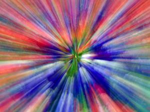 Zoom Abstract of Pansy Flowers by Charles R. Needle