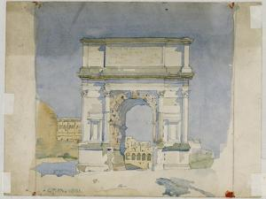 Arch of Titus, Rome, 1891 by Charles Rennie Mackintosh