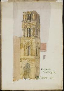 Campanile Martorana, Palermo, 1891 by Charles Rennie Mackintosh