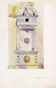 Certosa di Pavia, Study of a Jesuit Altar, 1891 by Charles Rennie Mackintosh