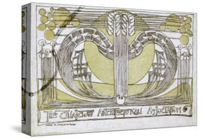 Conversazione Programme, Designed for the Glasgow Architectural Association, 1894