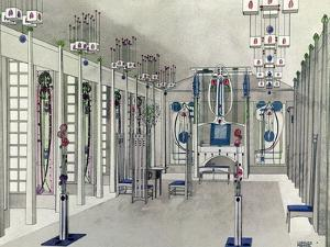 Design for a Music Room with Panels by Margaret Macdonald Mackintosh 1901 by Charles Rennie Mackintosh