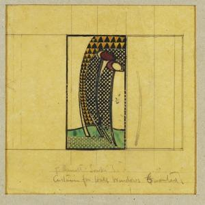 Design for Curtains for the Hall Windows, for W.J. Bassett-Lowke, 1916-17 by Charles Rennie Mackintosh