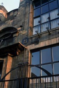 Detail of the Ironwork of the North Facade, Built 1897-99 by Charles Rennie Mackintosh