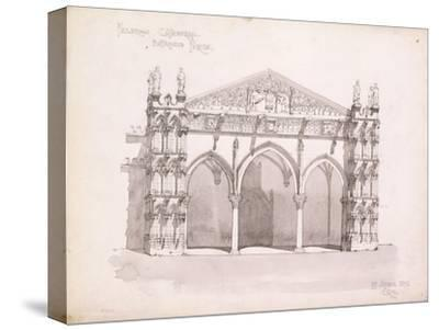 Palermo Cathedral, Study of the Entrance Porch, 1891