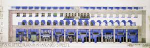 Previously Unrecorded Architectural Drawings for a Shop and Arcaded Street, circa 1915 by Charles Rennie Mackintosh