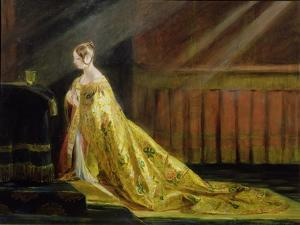 Queen Victoria in Her Coronation Robe, 1838 by Charles Robert Leslie