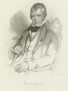 Sir Walter Scott by Charles Robert Leslie