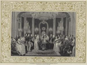 The Christening of the Princess Royal in the Throne-Room at Buckingham Palace, 1841 by Charles Robert Leslie
