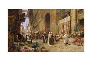 A Street Scene in Cairo by Charles Robertson