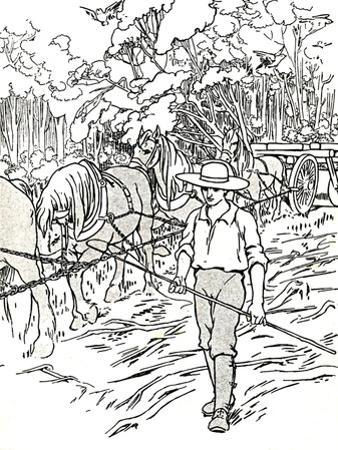 'A Settler Clearing His Land', 1912 by Charles Robinson