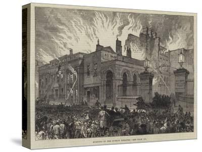 Burning of the Dublin Theatre