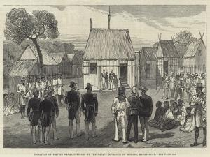 Reception of British Naval Officers by the Native Governor of Mohabo, Madagascar by Charles Robinson