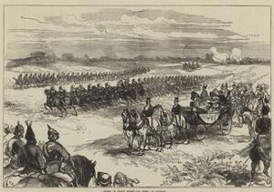 Review of Troops before the Queen, at Chobham by Charles Robinson