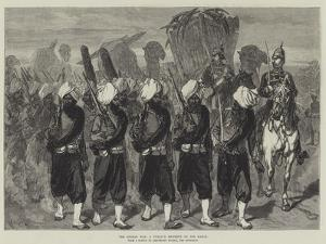 The Afghan War, a Punjaub Regiment on the March by Charles Robinson