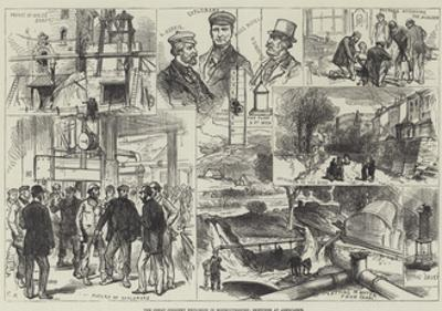 The Great Colliery Explosion in Monmouthshire, Sketches at Abercarne by Charles Robinson