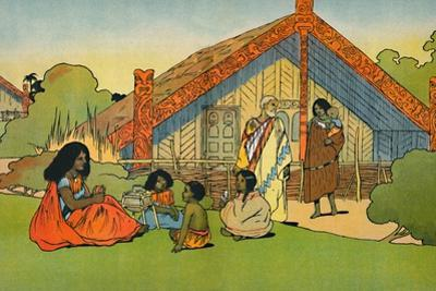 'The Maori's Home', 1912 by Charles Robinson