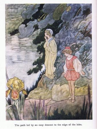 The Path Led by Easy Descent to the Edge of the Lake by Charles Robinson