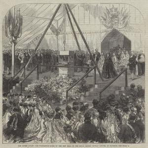 The Queen Laying the Foundation-Stone of the New Hall of the Royal Albert Orphan Asylum, at Bagshot by Charles Robinson