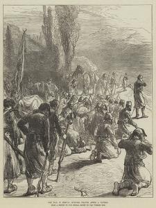 The War in Servia, Evening Prayer after a Battle by Charles Robinson
