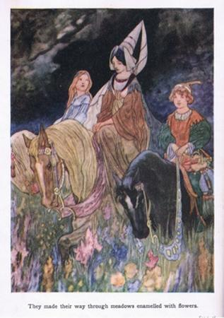 They Made their Way Through Meadows Enamelled with Flowers by Charles Robinson