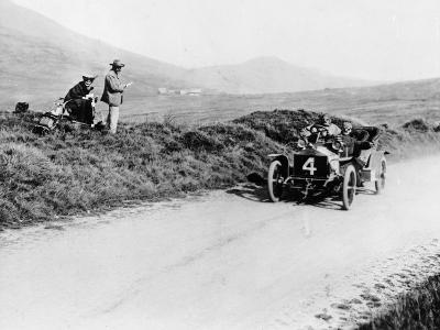 Charles Rolls on the Way to Winning the Isle of Man Tt Race in a 20 Hp Rolls-Royce, 1906--Photographic Print
