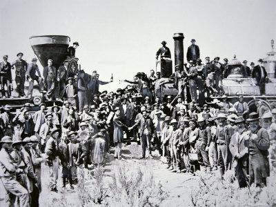 The Golden Spike Ceremony, 10th May 1869