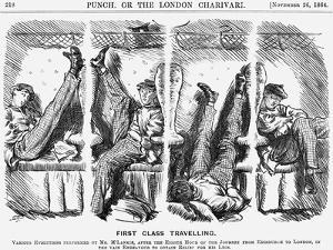First Class Travelling, 1864 by Charles Samuel Keene