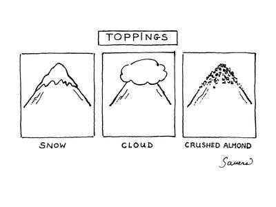 Toppings - New Yorker Cartoon