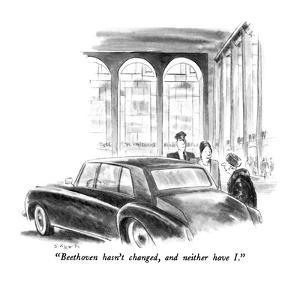 """""""Beethoven hasn't changed, and neither have I."""" - New Yorker Cartoon by Charles Saxon"""