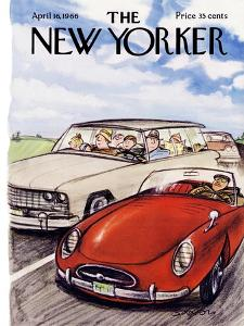 The New Yorker Cover - April 16, 1966 by Charles Saxon
