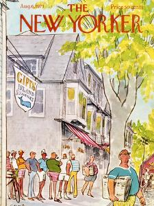 The New Yorker Cover - August 6, 1973 by Charles Saxon