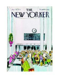 The New Yorker Cover - December 16, 1974 by Charles Saxon