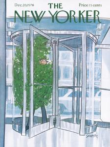 The New Yorker Cover - December 20, 1976 by Charles Saxon