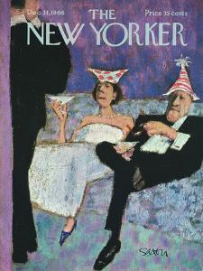 The New Yorker Cover - December 31, 1966 by Charles Saxon