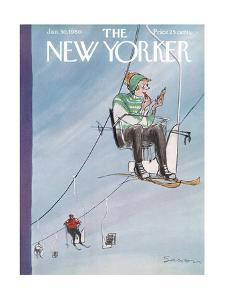 The New Yorker Cover - January 30, 1960 by Charles Saxon
