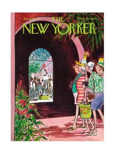 The New Yorker Cover - January 9, 1971 by Charles Saxon