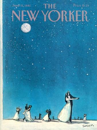 The New Yorker Cover - June 15, 1981 by Charles Saxon