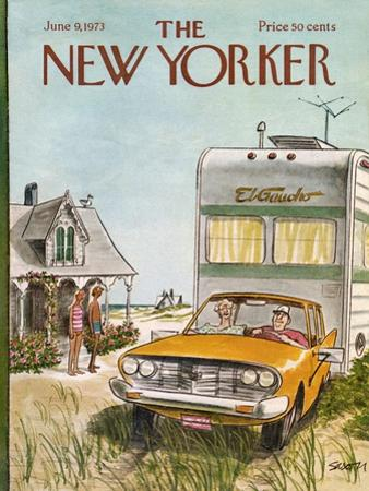 The New Yorker Cover - June 9, 1973 by Charles Saxon