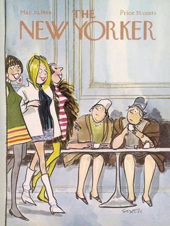 The New Yorker Cover - March 30, 1968 by Charles Saxon