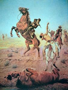 Fight For the Water Hole by Charles Schreyvogel