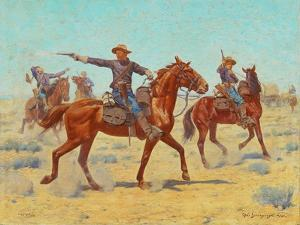 The Rear Guard, 1907 by Charles Schreyvogel