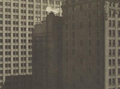 Manhatta - Skyscrapers in Shadows, Negative date: 1920