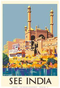 "See India - Benares (Varanasi) - Ganges River by Charles ""Shep"" Shepard"
