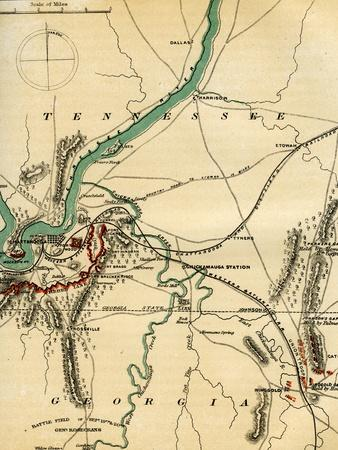 Map of Chattanooga and its Defences, Tennessee, 1862-1867