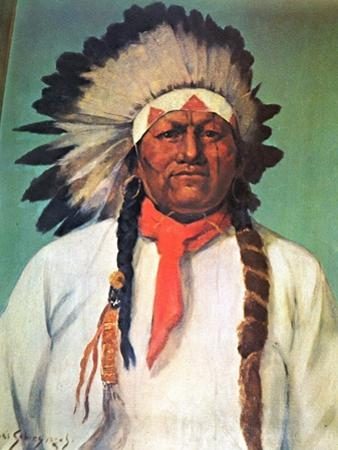 Indian Chief White Eagle by Charles Shreyvogel
